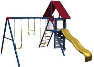 Lifetime Swing Sets - 258001 Playground Equipment - Small Clubhouse