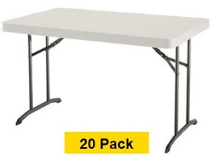 20 Lifetime Tables Indoor Outdoor Folding Table 2645 Almond 48 x 30
