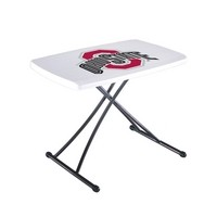 SO 8247 40 Pack Ohio State Lifetime Folding Adjustable Personal Table