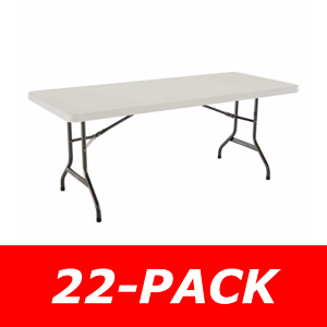 Lifetime 2900 6' Rectangular Tables 22 Pack with Almond Color Top
