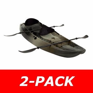 2-Pack Lifetime Camouflage Kayak - 10-Foot 90157 Sit-on-Top Fishing Kayak