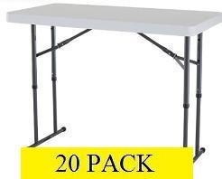 SO Lifetime Tables - 2941 White Granite 4 ft. Folding Table