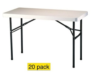 Lifetime Folding Tables - 2959 4 Foot Almond Top - 20 Pack
