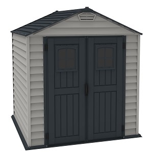 DuraMax 30325 7x7 StoreMax Plus All Weather Durable Vinyl Shed With Molded Floor