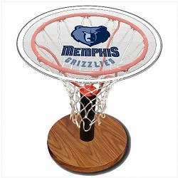 NBA Basketball Acrylic Sports Table with Memphis Grizzlies Logo