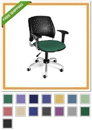 OFM 326-AA3 Stars Swivel Chair with Arms