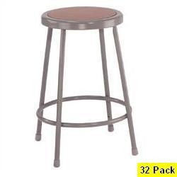 32 Heavy-Duty Lab Stools Pallet NPS National Public Seating 6224 24 In