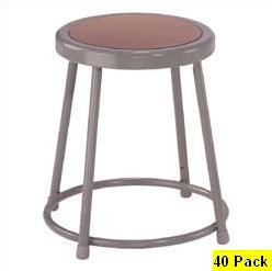 40 Heavy-Duty 18 In Lab Stools NPS National Public Seating 6218