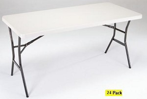 SO 4508 24 PACK Lifetime 5 ft Pearl Folding Utility Tables