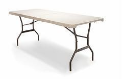 SO 24560 4560 Versalite 6 Fold-in-Half Table with 72 x 30 Beige Top