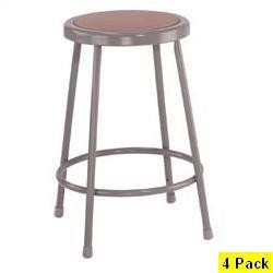 National Public Seating NPS 6224 24 In Heavy-Duty Lab Stool 4 Pack