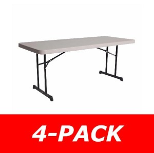 Lifetime Tables - 480126 Putty Professional Grade 6 ft. Table - 4 Pack