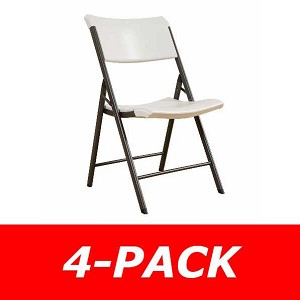 Lifetime Folding Chairs - 480625 Almond Contemporary Chair - 4-Pack