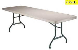 SO 8081 Lifetime (4 PACK) Accent 8 ft Almond Folding Table