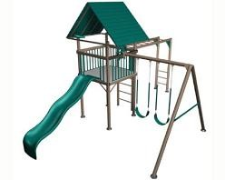SO Swing Sets Big Stuff Playgrounds Lifetime Large Deck Playset Earth