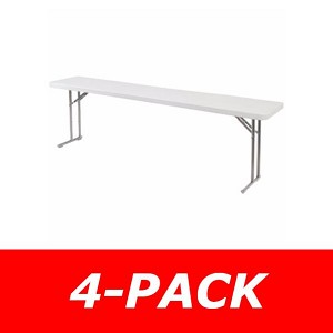 Seminar Folding Tables - NPS Bt1896 Gray Plastic Table Top - 4 Pack