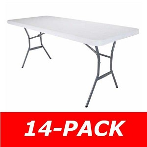 14 Lifetime 5011 White Durastyle 6 Ft Fold In Half Folding Tables