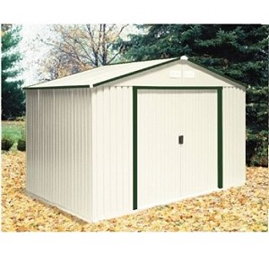 Metal Shed 50211 Green Trim 10x8 Del Mar