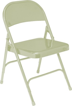 National Public Seating 50 Series Steel Folding Chair, Double Brace, 480 lbs Capacity