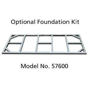 57600 Duramax Foundation Kit for 8' x 4' for Pent Roof Metal Sheds