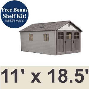 Lifetime Storage Building - 60236 (previously 60025) 11x18.5 ft. Garage Shed