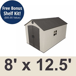 Lifetime Storage Sheds - 60035 8x12.5 Plastic Outdoor Shed