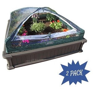 Lifetime Raised Garden Bed 2-Pack Kit with Enclosure