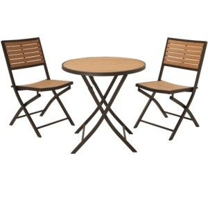 Patio Furniture - 60074 3-Piece Bistro Set Lifetime Table and Chairs