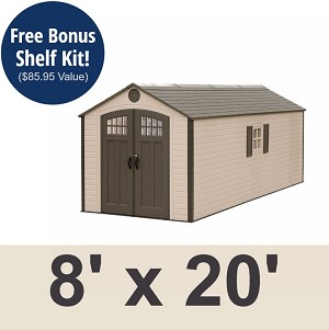 Lifetime Storage Shed 60120 8 ft x 20 ft Building Kit