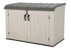 Lifetime 60170 Outdoor Garbage Horizontal Storage Shed Bin