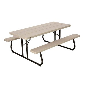 Lifetime Folding Picnic Table 60173 6-Foot Desert Sand Color