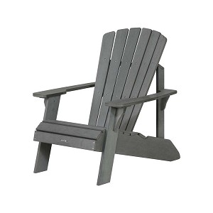 Lifetime 60204 Grey Adirondack Patio Furniture Polystyrene Chair