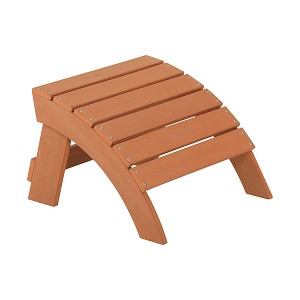 Lifetime 60245 Adirondack Simulated Wood Ottoman Footstool Accessory