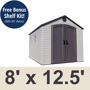 Lifetime Outdoor Storage Shed 6402 8x12.5 Yard Building