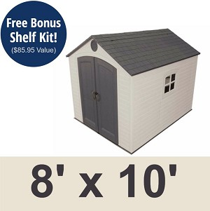 Lifetime Outdoor Storage Shed 6405 Sentinel 8 X 10 Ft