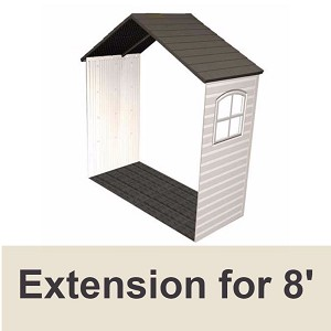 Lifetime 6424 30 In Shed Extension Kit With Window For 8 Ft Sheds