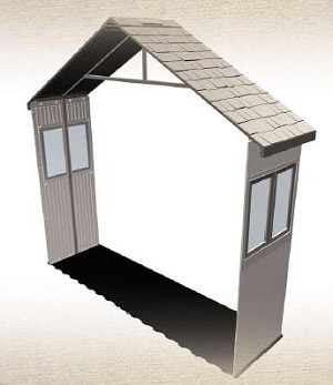 SO Lifetime 6425 30-in Shed Extension Kit + 2 Windows To 11 Foot Sheds
