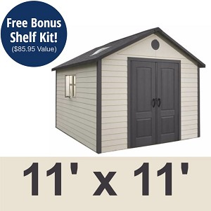 Lifetime Sheds - 6433 11 X 11 Foot Outdoor Storage Shed