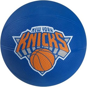 Spalding 65-543E New York Knicks Mini Rubber NBA Team Basketball