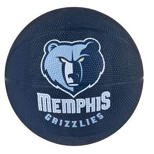 Spalding 65-546E Memphis Grizzlies Mini Rubber Basketball