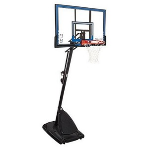 Spalding 50-Inch Polycarbonate Portable Basketball Hoop (Model 66349)