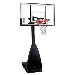 Spalding 54-Inch Glass Portable Basketball Hoop (Model 68454)