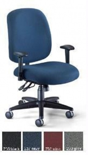 Ofm 700-Aa6 Adjustable Office Fabric W Arms & Casters Big & Tall Chair