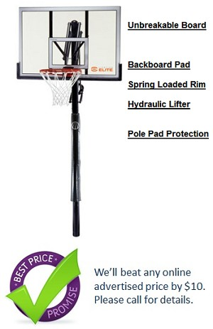 Lifetime 71282 Elite 52 Shatter Guard Power Lift In Ground Basketball