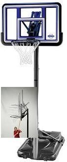 SO Lifetime 71594 44 In Fusion Portable Hoop Goal Basketball System