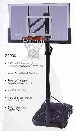 SO Lifetime 72000 Competition Portable 54 Hoop Goal Basketball System