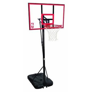 Spalding 72351 Portable Basketball System 44-in Backboard Slam Jam Rim