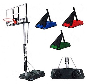 Spalding Hercules 52 Acrylic Portable Colored Base Basketball System