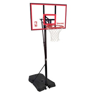 Spalding 44-Inch Polycarbonate Portable Basketball Hoop (Model 73351)