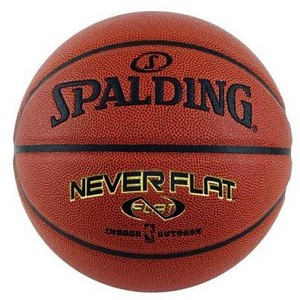 Spalding Basketballs 74-096E NBA Size Never Flat Technology Basketball